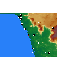Nearby Forecast Locations - Kozhikode - Map