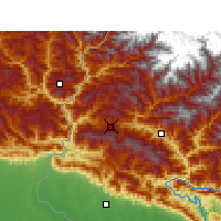 Nearby Forecast Locations - Dadeldhura - Map