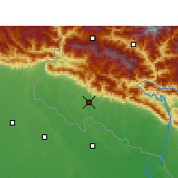 Nearby Forecast Locations - Dhangadhi - Map