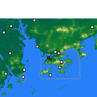 Nearby Forecast Locations - Lau Fau Shan - Map
