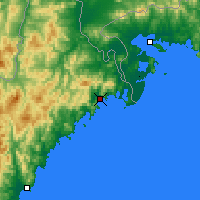 Nearby Forecast Locations - Sonbong - Map