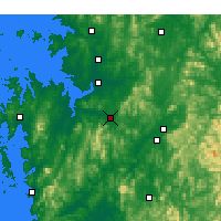 Nearby Forecast Locations - Cheonan - Map