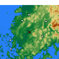 Nearby Forecast Locations - Gwangju - Map