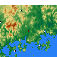 Nearby Forecast Locations - Jinju - Map