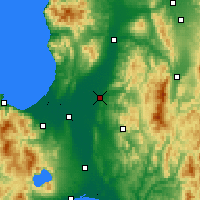 Nearby Forecast Locations - Iwamizawa - Map