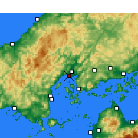 Nearby Forecast Locations - Hiroshima - Map