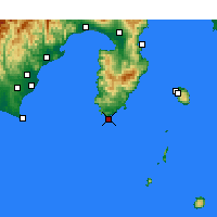 Nearby Forecast Locations - Irozaki - Map