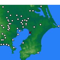 Nearby Forecast Locations - Chiba - Map