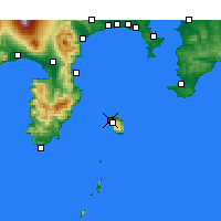 Nearby Forecast Locations - Oshima Airport - Map