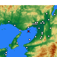 Nearby Forecast Locations - Kobe Airport - Map