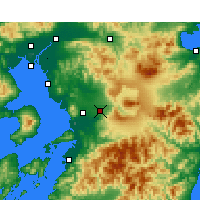 Nearby Forecast Locations - Mashiki - Map