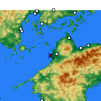 Nearby Forecast Locations - Matsuyama Airport - Map