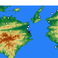 Nearby Forecast Locations - Komatsushima - Map