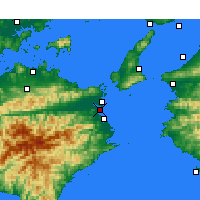 Nearby Forecast Locations - Tokushima - Map