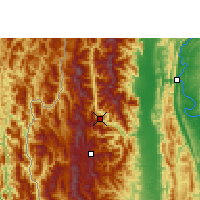 Nearby Forecast Locations - Falam - Map