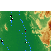 Nearby Forecast Locations - Phitsanulok - Map