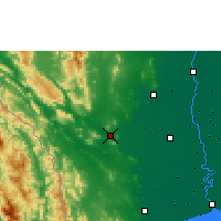 Nearby Forecast Locations - Kanchanaburi - Map