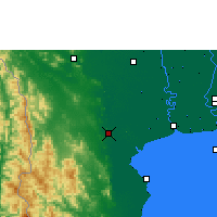 Nearby Forecast Locations - Ratchaburi - Map