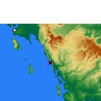 Nearby Forecast Locations - Khlong Yai - Map