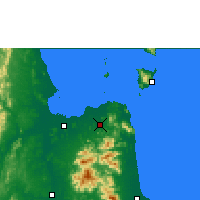 Nearby Forecast Locations - Surat Thani Agromet - Map