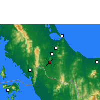 Nearby Forecast Locations - Sa Dao - Map