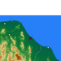 Nearby Forecast Locations - Narathiwat - Map