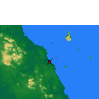 Nearby Forecast Locations - Mersing - Map