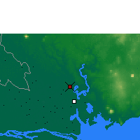 Nearby Forecast Locations - Ho Chi Minh - Map