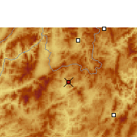 Nearby Forecast Locations - Luang Namtha - Map