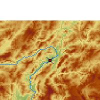 Nearby Forecast Locations - Luang Prabang - Map