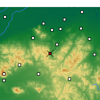 Nearby Forecast Locations - Boshan - Map