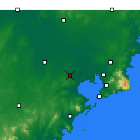 Nearby Forecast Locations - Jiaozhou Bay - Map
