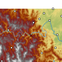 Nearby Forecast Locations - Ebian - Map