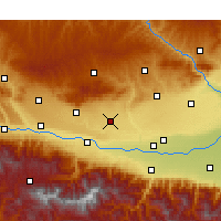 Nearby Forecast Locations - Fufeng - Map