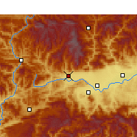 Nearby Forecast Locations - Mian Xian - Map