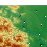 Nearby Forecast Locations - Gucheng - Map