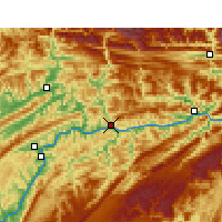 Nearby Forecast Locations - Yunyang - Map