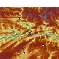 Nearby Forecast Locations - Wushan - Map