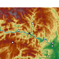 Nearby Forecast Locations - Zigui - Map
