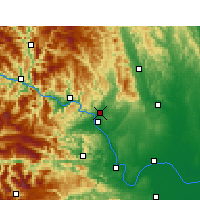 Nearby Forecast Locations - Yichang - Map