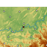 Nearby Forecast Locations - Luzhou - Map