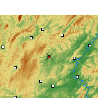 Nearby Forecast Locations - Jishou - Map