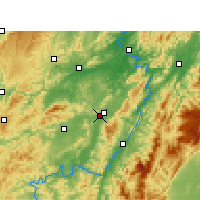 Nearby Forecast Locations - Zhongfang - Map