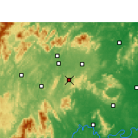 Nearby Forecast Locations - Dongkou - Map