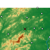 Nearby Forecast Locations - Yichun - Map