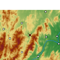 Nearby Forecast Locations - Xinning - Map