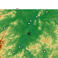 Nearby Forecast Locations - Taihe - Map