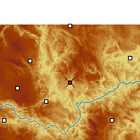 Nearby Forecast Locations - Wangmo - Map
