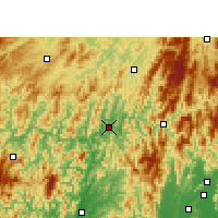 Nearby Forecast Locations - Sanjiang - Map