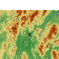 Nearby Forecast Locations - Lingchuan - Map
